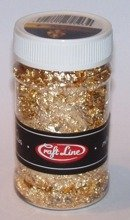 METAL FLAKES 100ml  (gold 1 - M7) - Cienkie listki folii (złote 1)