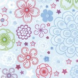 Papier do scrapbookingu - Star Posies  - 30,5 x 30,5cm