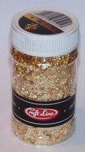 METAL FLAKES 100ml  (gold 2 - M9) - Cienkie listki folii (złote 2)