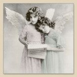 "Serwetka do decoupage ""Angels Reading"""
