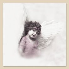 "Serwetka do decoupage ""Cute Angel Girl"""
